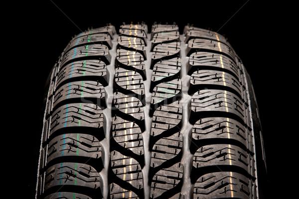Stock fotó: Autógumi · közelkép · új · autó · textúra · tél · fekete