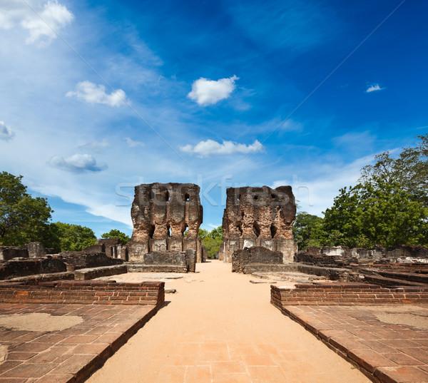 Royal palais ruines anciens Sri Lanka pierre Photo stock © dmitry_rukhlenko