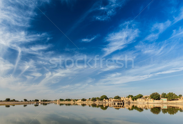人工的な 湖 インド 水 アーキテクチャ 墓 ストックフォト © dmitry_rukhlenko