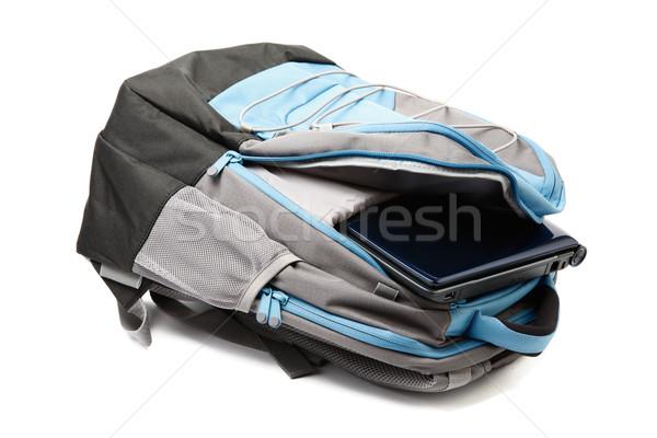 Sac à dos portable à l'intérieur isolé blanche Photo stock © dmitry_rukhlenko