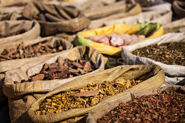 Stock photo: Spices in Indian market