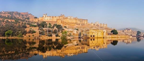 Panorama âmbar forte Índia famoso ponto de referência Foto stock © dmitry_rukhlenko