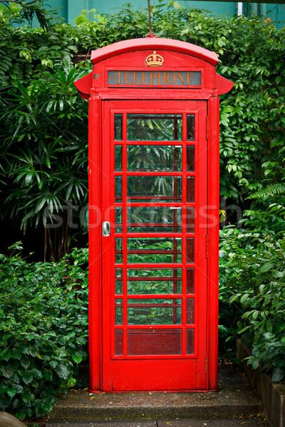Rood Engels telefoon kraam business telefoon Stockfoto © dmitry_rukhlenko