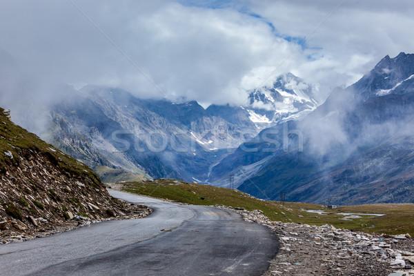 Weg himalayas la hemel natuur Stockfoto © dmitry_rukhlenko