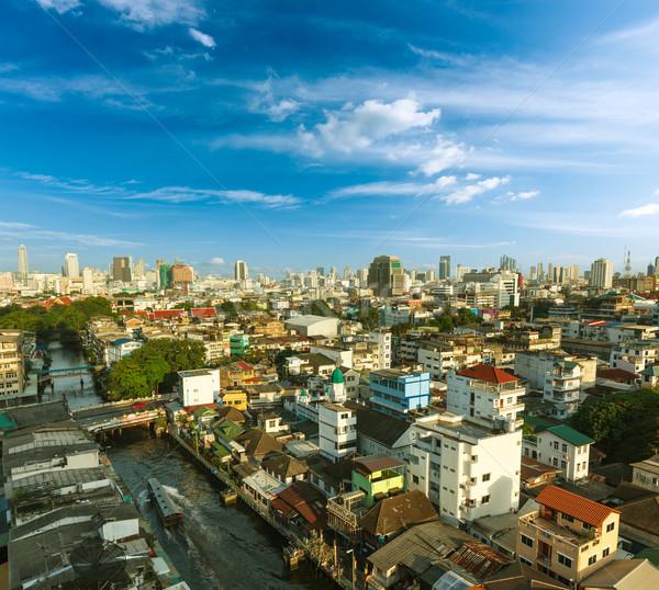 Stok fotoğraf: Bangkok · gökyüzü · şehir · kentsel · tekne