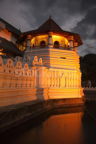 Tempel tand avond Sri Lanka belangrijk Stockfoto © dmitry_rukhlenko