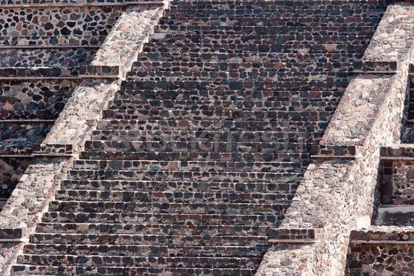 Pyramides ruines Mexique vue pyramide lune Photo stock © dmitry_rukhlenko