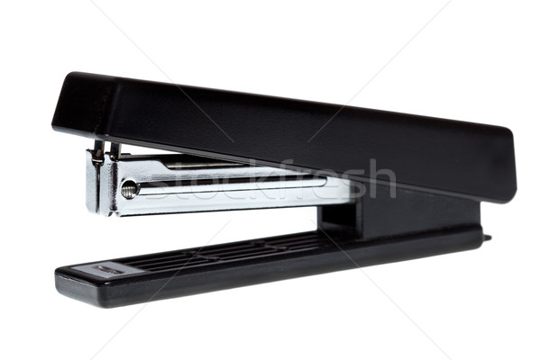 Ufficio cucitrice nero isolato metal Foto d'archivio © dmitry_rukhlenko