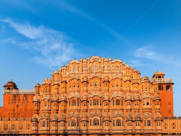 Paleis mijlpaal gebouw architectuur indian stad Stockfoto © dmitry_rukhlenko