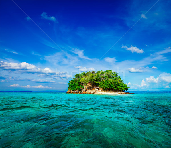 Tropisch eiland zee vakantie vakantie boot Thailand Stockfoto © dmitry_rukhlenko