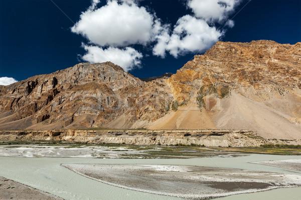 Himalayas landschap la hemel water Stockfoto © dmitry_rukhlenko