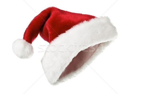 Chapeau isolé blanche rouge hiver Photo stock © dmitry_rukhlenko