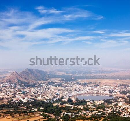 Heilig stad Indië luchtfoto tempel natuur Stockfoto © dmitry_rukhlenko