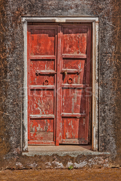 Wooden old door vintage background  Stock photo © dmitry_rukhlenko