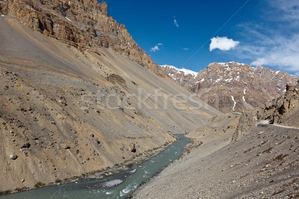 Rio himalaia vale paisagem viajar montanhas Foto stock © dmitry_rukhlenko