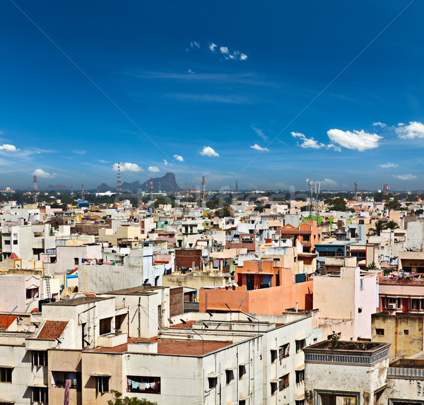 Stad Indië typisch zuiden indian huizen Stockfoto © dmitry_rukhlenko