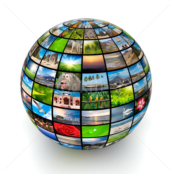 Picture globe Stock photo © dmitry_rukhlenko