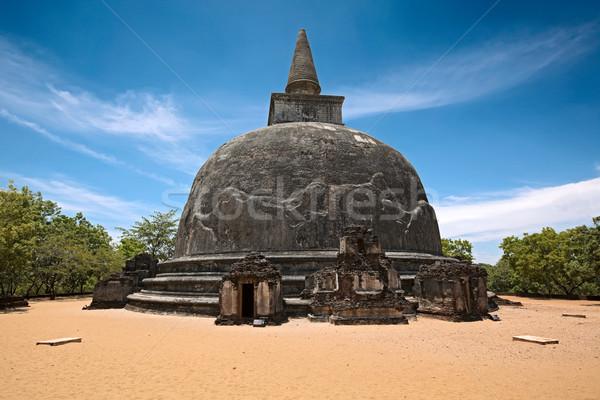 Kiri Vihara - ancient buddhist dagoba (stupa) Stock photo © dmitry_rukhlenko