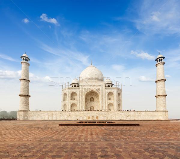 Taj Mahal Inde indian symbole Voyage pierre Photo stock © dmitry_rukhlenko