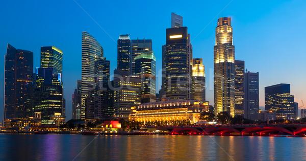 Panorama of Singapore downtown Stock photo © dmitry_rukhlenko