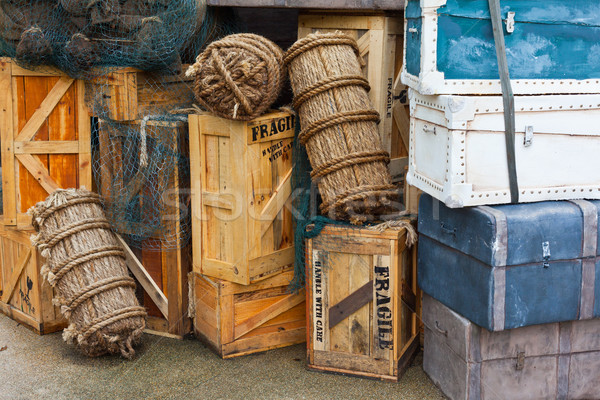 Vintage bagages sac valise équipement désuet Photo stock © dmitry_rukhlenko