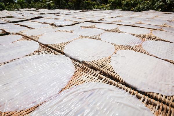 Making of rice noodles. Vietnam Stock photo © dmitry_rukhlenko