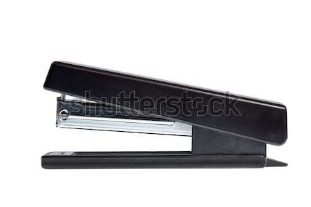 Ufficio cucitrice nero isolato strumento plastica Foto d'archivio © dmitry_rukhlenko
