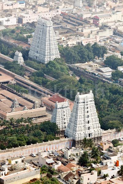 Arunachaleswar Temple, Tiruvannamalai, Tamil Nadu, India. Aerial Stock photo © dmitry_rukhlenko