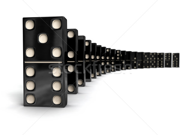 Row of dominoes Stock photo © dmitry_rukhlenko