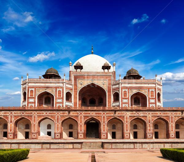 Grób Indie marmuru mauzoleum Delhi budynku Zdjęcia stock © dmitry_rukhlenko