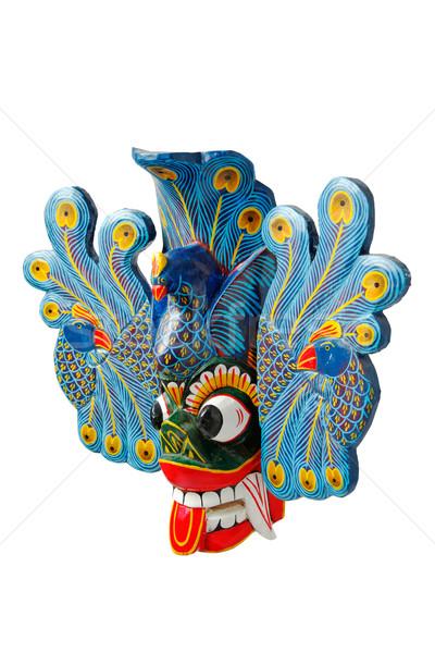 Traditinal Sri Lankan mask isolated Stock photo © dmitry_rukhlenko