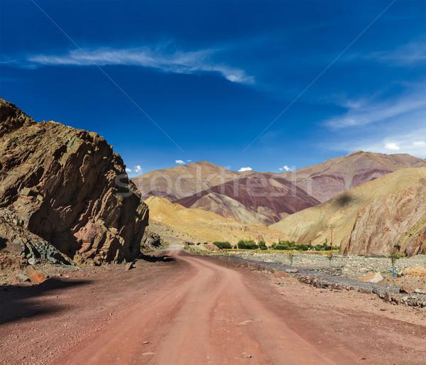 út Himalája hegyek utazás előre égbolt Stock fotó © dmitry_rukhlenko