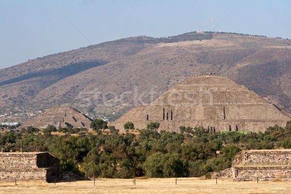 Pyramides pyramide soleil lune Mexique vue Photo stock © dmitry_rukhlenko