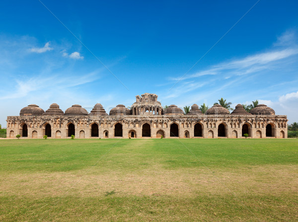 Ancient ruins of Elephant Stables Stock photo © dmitry_rukhlenko
