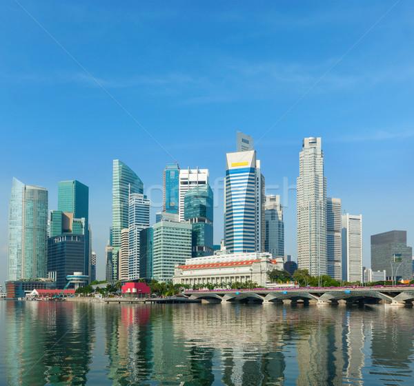 Cingapura arranha-céus distrito comercial marina água cidade Foto stock © dmitry_rukhlenko