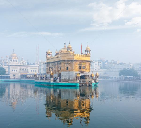 Dourado templo sikh manhã dente água Foto stock © dmitry_rukhlenko
