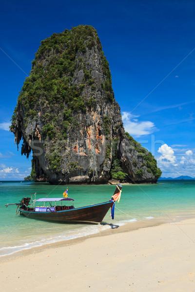 Lungo coda barca spiaggia Thailandia spiaggia tropicale Foto d'archivio © dmitry_rukhlenko