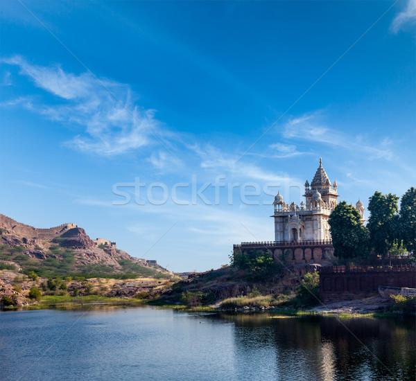 Indië mausoleum hemel stad natuur reizen Stockfoto © dmitry_rukhlenko
