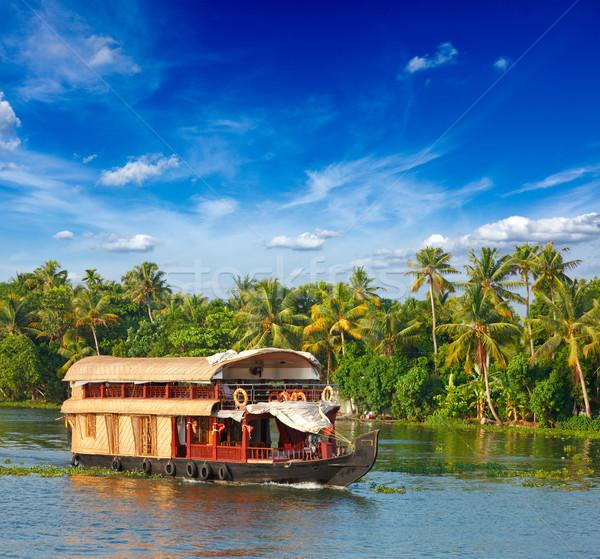 Индия воды Palm путешествия лодка судно Сток-фото © dmitry_rukhlenko