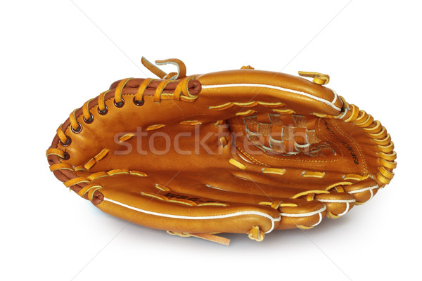 Empty baseball catcher mitt isolated on white Stock photo © dmitry_rukhlenko