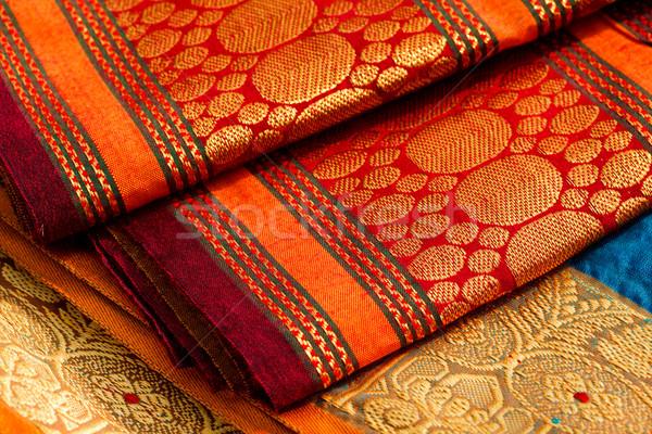 Indian soie fond couleur modèle Photo stock © dmitry_rukhlenko