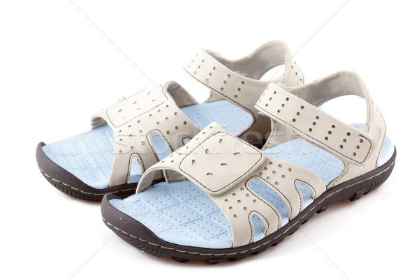 Sportu sandały odizolowany pary biały Zdjęcia stock © dmitry_rukhlenko