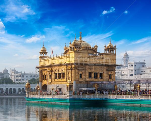Photo stock: Or · temple · sikh · eau · piscine · architecture