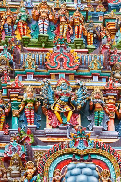 Foto stock: Templo · torre · imagem · pedra · asiático · escultura