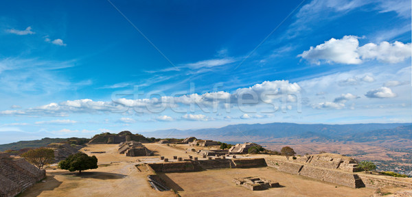 Panorama of sacred site Monte Alban, Mexico  Stock photo © dmitry_rukhlenko