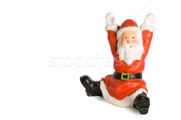 Kerstman beeldje geïsoleerd witte textuur achtergrond Stockfoto © dmitry_rukhlenko