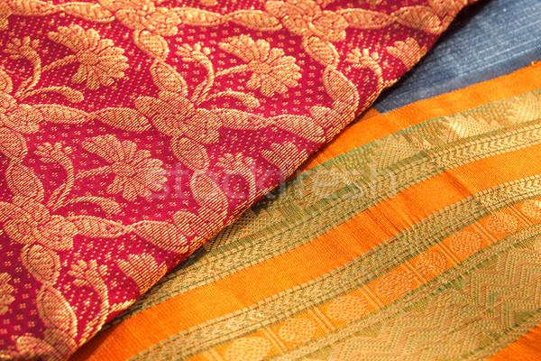 Indiano seda fundo cor padrão Foto stock © dmitry_rukhlenko