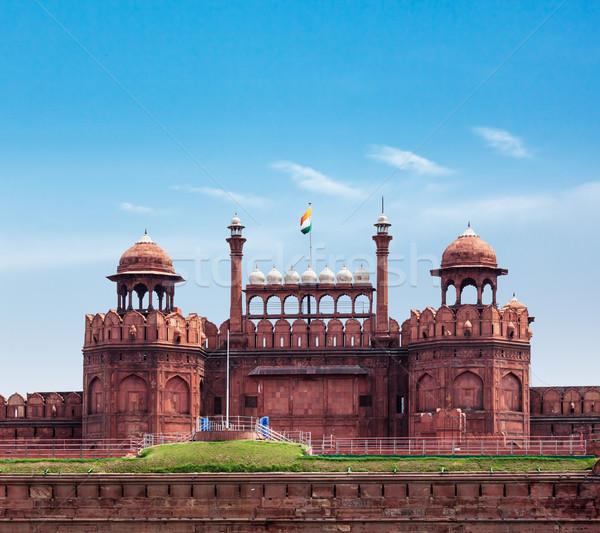 Foto stock: Vermelho · forte · Délhi · Índia · mundo · herança