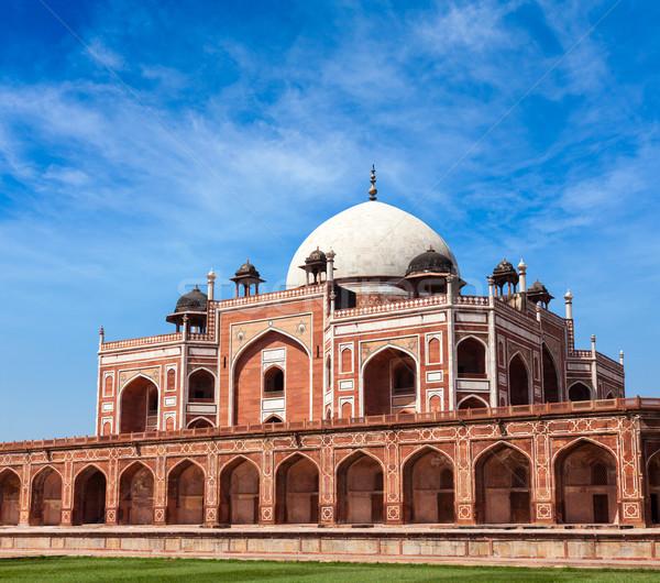 Graf Delhi Indië unesco wereld erfgoed Stockfoto © dmitry_rukhlenko