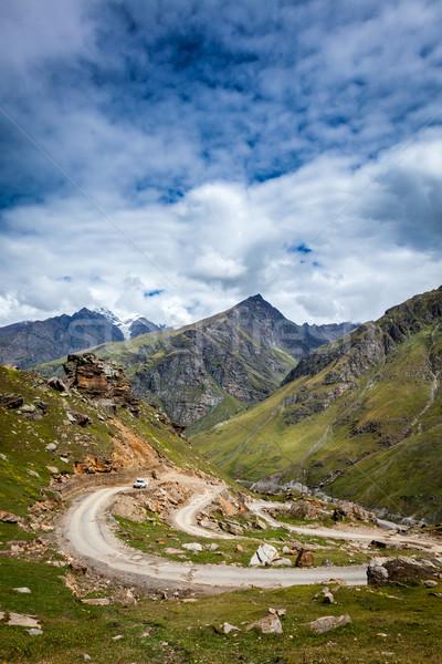 Weg himalayas la vallei hemel Stockfoto © dmitry_rukhlenko